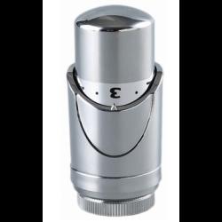 Термоголовка TIM для радиаторов M30*1.5. Жидкостная. Хромированная