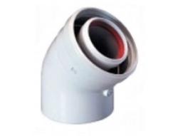 Отвод коаксиальный 90 градусов M/F D 60/100 для газовых котлов Ariston. Артикул 3318003