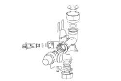 Патрубок обратной гидролинии Gaz 4000 W Bosch 8 716 010 896