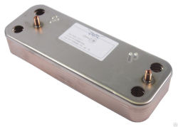 Теплообменник ГВС 14 пластин BAXI Luna 5686680 (5653680)