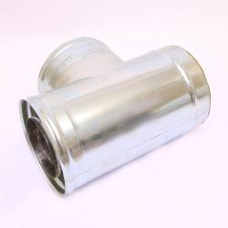 Сэндвич-тройник Ferrum 90° (430/0,5 мм + оц.) Ø115х200