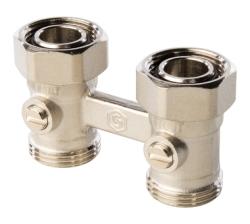 STOUT  Узел нижнего подключения радиатора для двухтрубной системы, прямой 3/4''