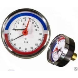 Термоманометр TIM аксиальный 6 бар (Y-80T-6bar)